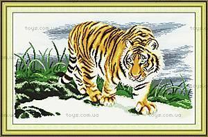 Гордый тигр, картина для вышивки, D037
