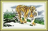 Гордый тигр, картина для вышивки, D037, фото