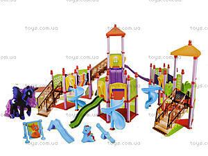 Игровая площадка с горками для мультгероев, SM1004, игрушки