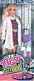 Кукла в полосатом платье «Городской стиль», 35067, купить