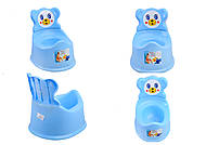 Горшок детский со спинкой, голубой, ПХ4518 ГОЛ, игрушка
