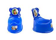 Горшок детский со спинкой, синий, ПХ4518 СИН, отзывы