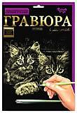 Гравюра А4 LUXE с рамкой «Котята», L-ГРА4-04з