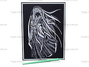 Гравюра «Девушка с длинными волосами», 7018-33, фото
