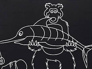 Гравюра для самых маленьких «Миша и рыбка», 7009-15ж, фото