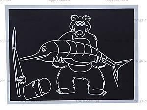 Гравюра для самых маленьких «Миша и рыбка», 7009-15ж, отзывы