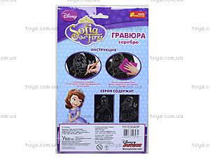 Серебристая гравюра «Дисней: Принцесса София и голуби», 7009-27, фото