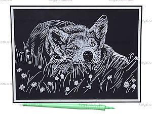 Гравюра «Собачка в цветах», 7017-48, фото