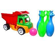 Грузовик с кеглями «Алекс», 089, детские игрушки