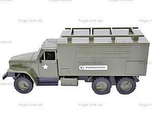 Грузовик военный инерционный «Медицинская служба», YP6688-3D, фото