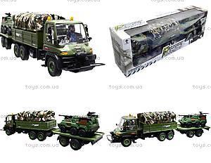 Грузовик военный с прицепом, KD007-8