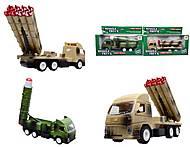 Игрушечный военный грузовик с ракетой, WD-003B04B