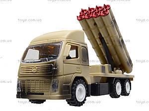 Игрушечный военный грузовик с ракетой, WD-003B04B, игрушки