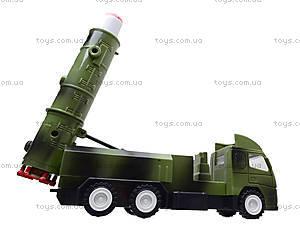 Игрушечный военный грузовик с ракетой, WD-003B04B, детские игрушки