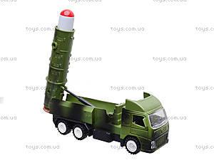 Игрушечный военный грузовик с ракетой, WD-003B04B, toys.com.ua