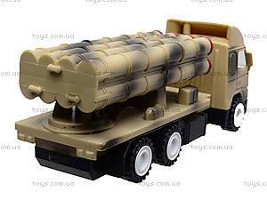 Игрушечный военный грузовик с ракетой, WD-003B04B, іграшки