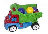 Грузовик Алекс с шариками большими (зеленый), 086, купить