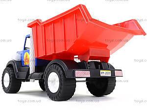 Игрушечный грузовик с лопатой и пасками, 12-010-70, детские игрушки