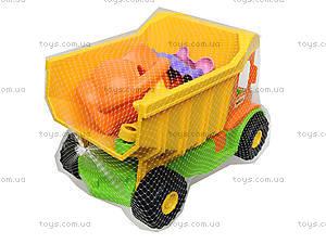 Игровой грузовик с набором для песка и лейкой, 39206, фото