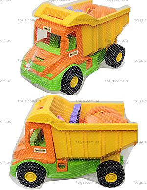 Игровой грузовик с набором для песка и лейкой, 39206
