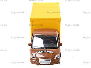 Инерционный грузовик с выпечкой серии «Автопарк», 9701B, фото