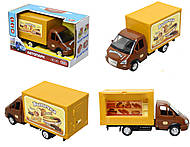 Инерционный грузовик с выпечкой серии «Автопарк», 9701B, купить