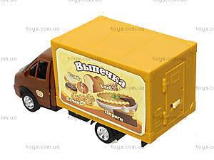 Инерционный грузовик с выпечкой серии «Автопарк», 9701B, цена