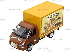 Инерционный грузовик с выпечкой серии «Автопарк», 9701B, игрушки