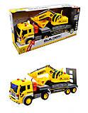 Инерционный грузовик с экскаватором, WY570A