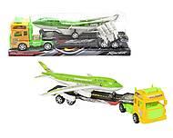 """Грузовик с самолётом """"Truck"""" салатовый, 662-1, фото"""