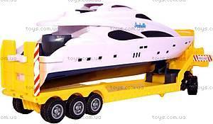 Игрушечный грузовик с яхтой «Скания», 10912-00-CIS, фото
