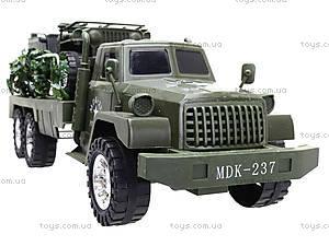 Военный грузовик с машиной, 237-8P, игрушки