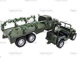 Военный грузовик с машиной, 237-8P, магазин игрушек