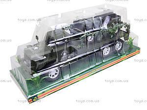 Военный грузовик с машиной, 237-8P, toys.com.ua