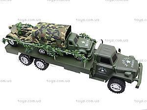 Грузовик военный с машиной, 237-B1P, фото