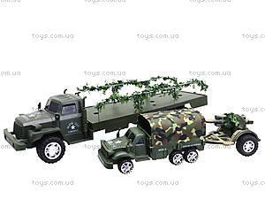 Грузовик военный с машиной, 237-B1P, игрушки