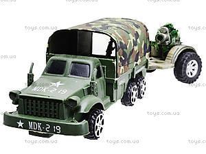Грузовик военный с машиной, 237-B1P, toys.com.ua