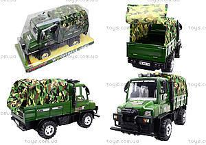 Детский военный грузовик с тентом, 468-15A