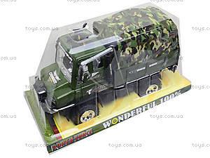 Детский военный грузовик с тентом, 468-15A, отзывы