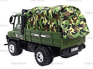 Детский военный грузовик с тентом, 468-15A, игрушки