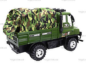 Детский военный грузовик с тентом, 468-15A, детские игрушки