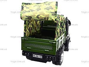 Детский военный грузовик с тентом, 468-15A, магазин игрушек