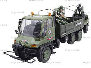 Игровой военный набор «Грузовик с солдатами», 3000-1, купить