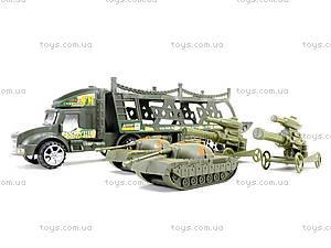 Инерционный грузовик с танками, 138-37W, игрушки