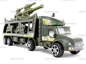 Инерционный грузовик с танками, 138-37W, детские игрушки