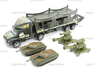 Инерционный грузовик с танками, 138-37W, toys.com.ua