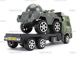 Игрушечный грузовик с военной техникой, 5359-12A, купить