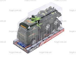 Игрушечный грузовик с военной техникой, 5359-12A, фото
