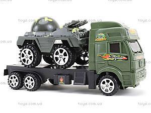 Игрушечный грузовик с военной техникой, 5359-12A, отзывы