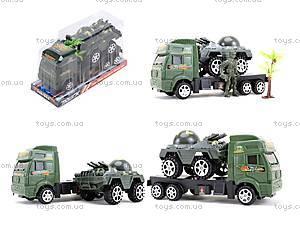 Игрушечный грузовик с военной техникой, 5359-12A